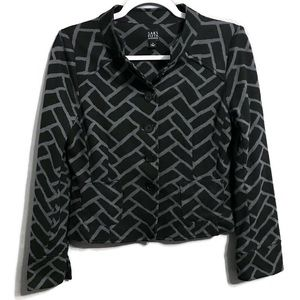 Saks Fifth Ave Button Up Career Cropped Jacket 4